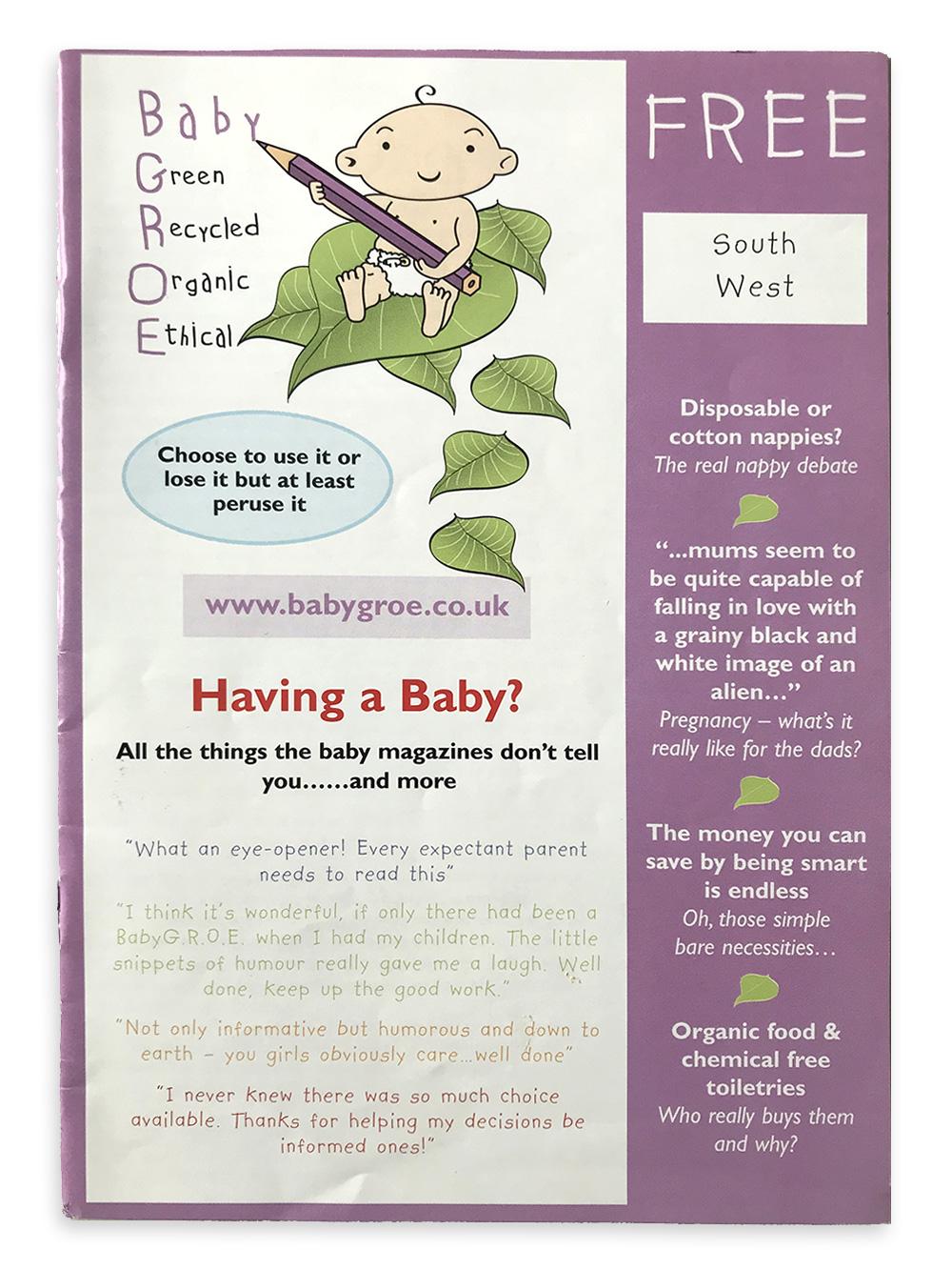 Old BabyGROE magazine