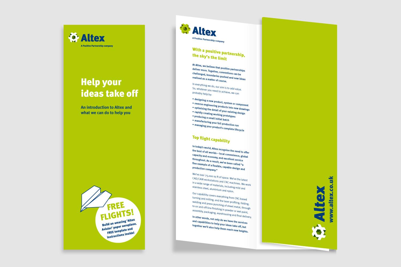 Altex exhibition leaflet