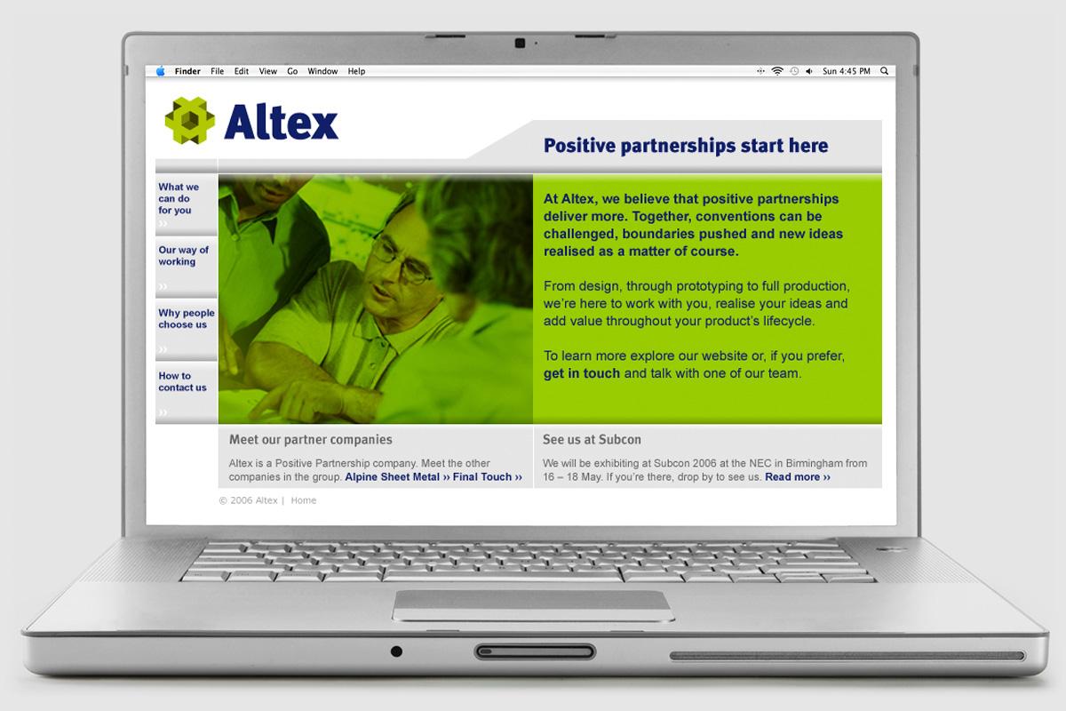 Altex website