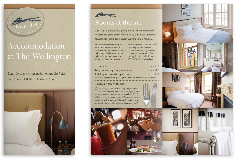 4pp leaflet for The Wellington (2013)