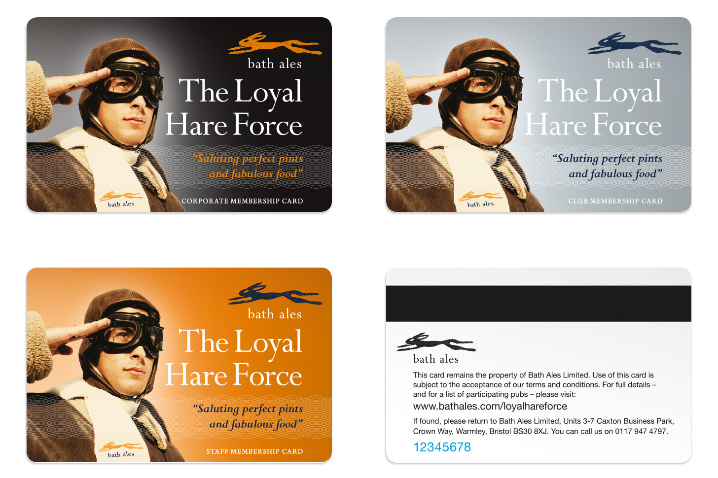 The Loyal Hare Force membership cards