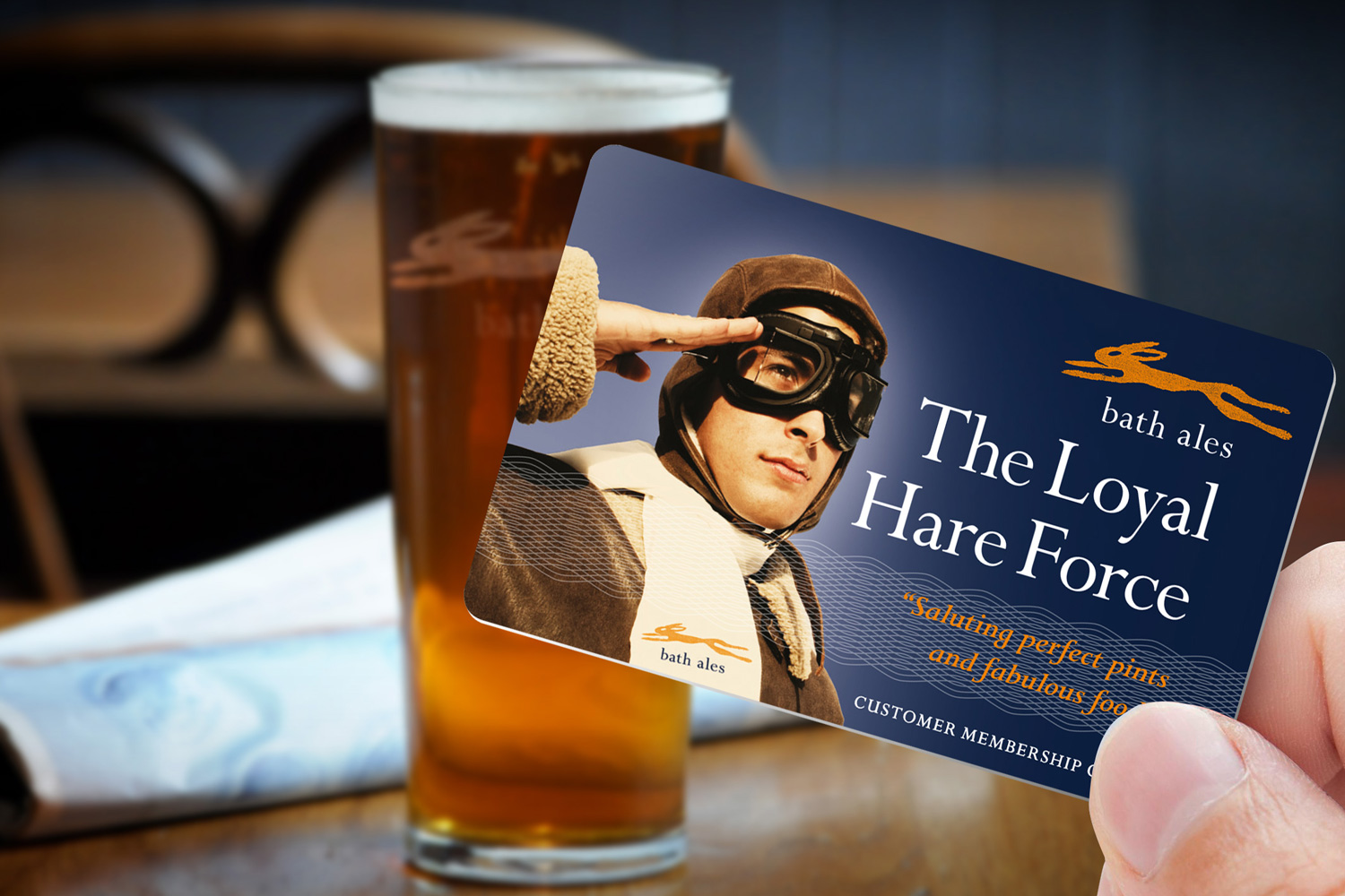 The Loyal Hare Force membership card