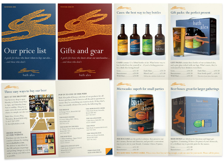 Bath Ales 8pp pocket-sized price lists (2008)