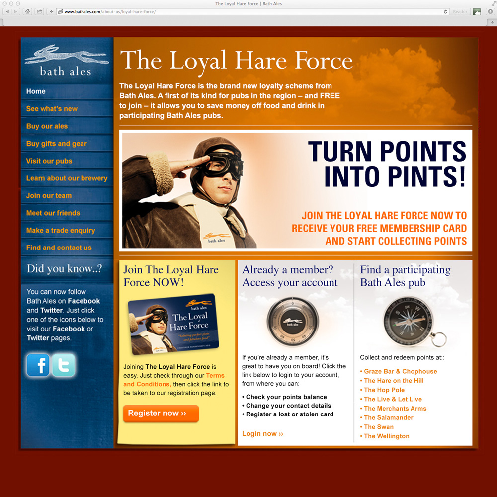 The Loyal Hare Force web page