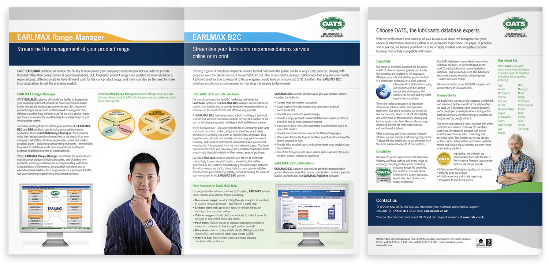 OATS EARLMAX brochure