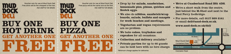 Mud Dock Deli promotional flyer (back)