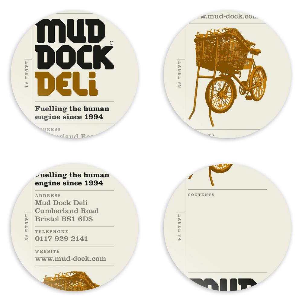 Mud Dock Deli labels