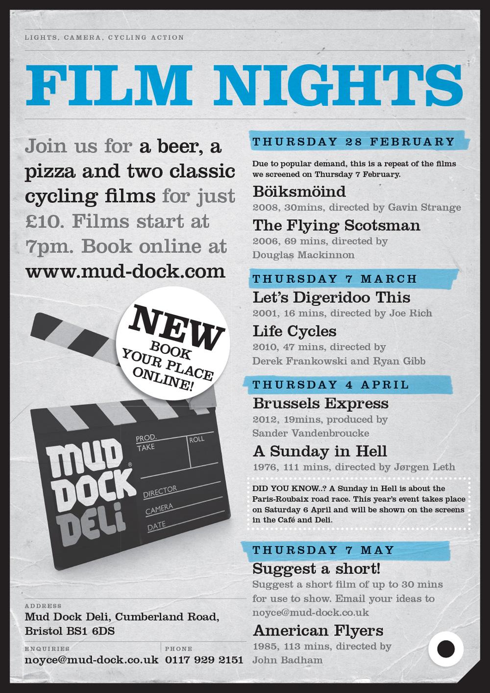 Mud Dock Deli Film Night poster