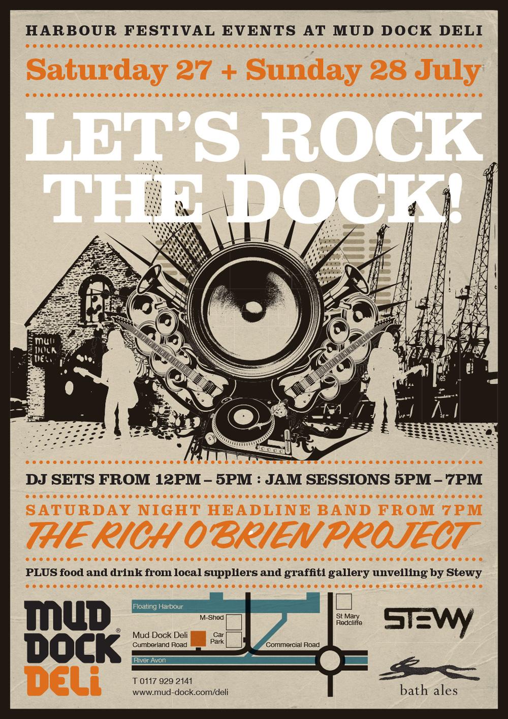Mud Dock Deli Rock the Dock poster