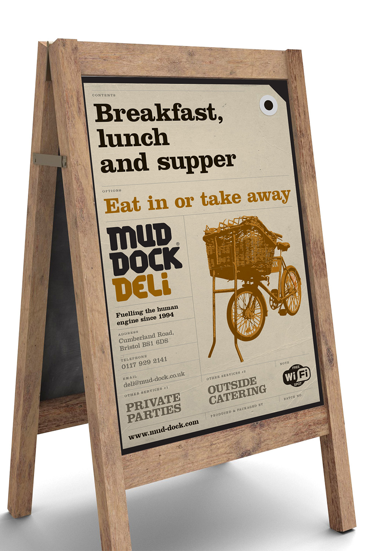 Mud Dock Deli A-board