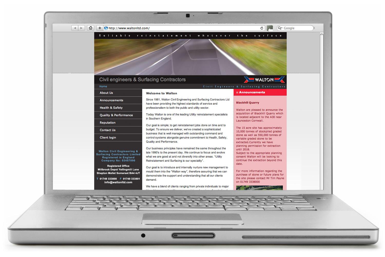 The old Walton website