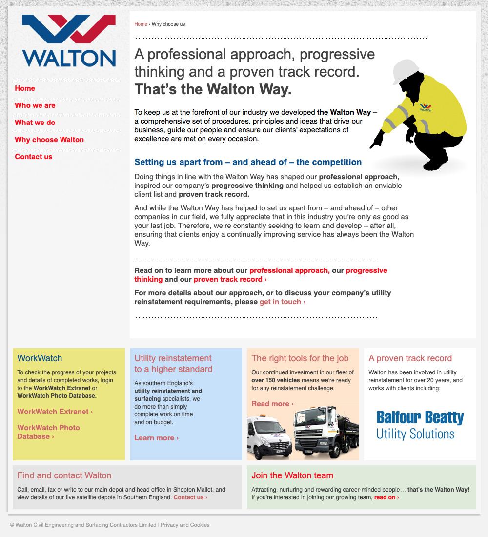 The new Walton website