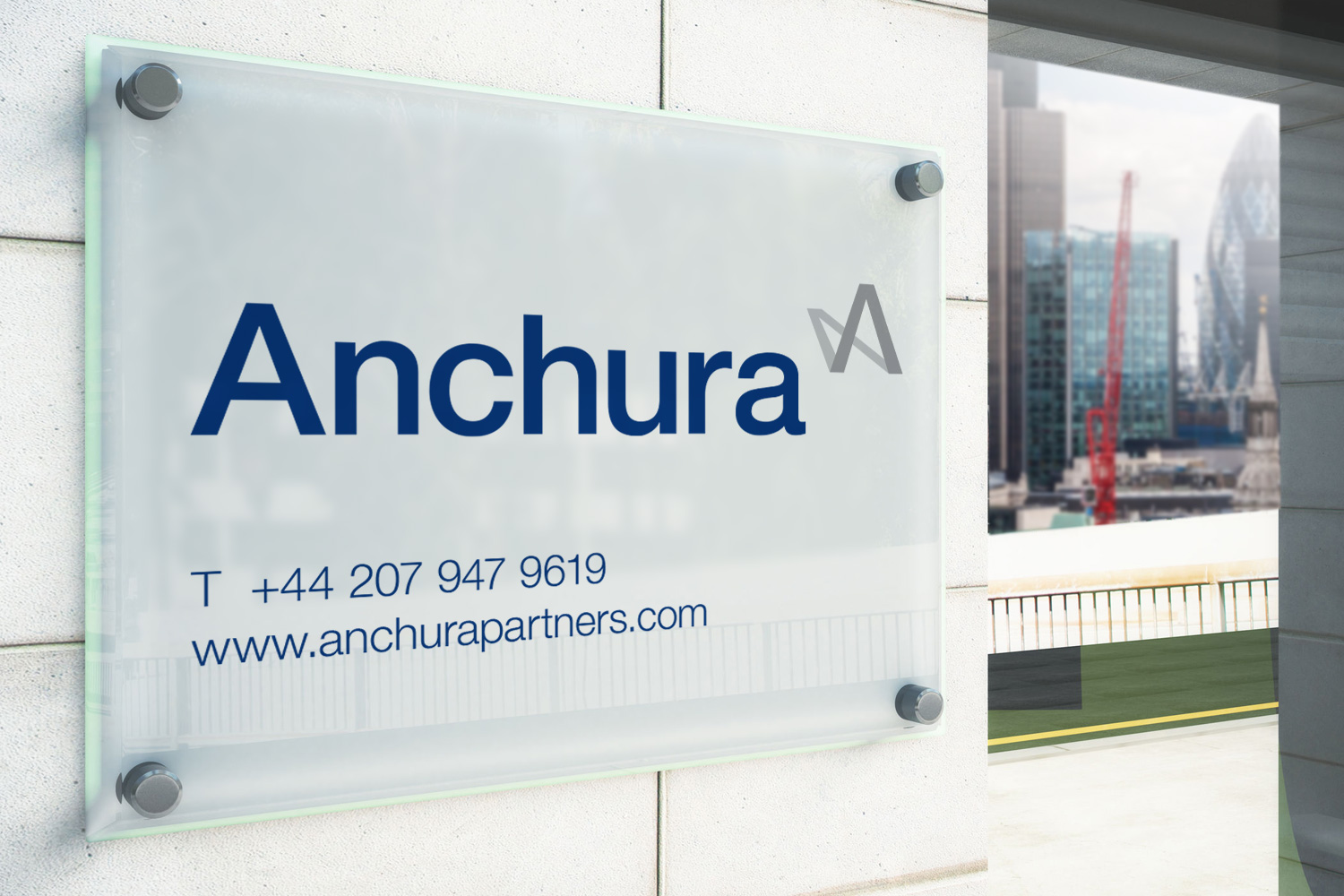 Anchura office sign