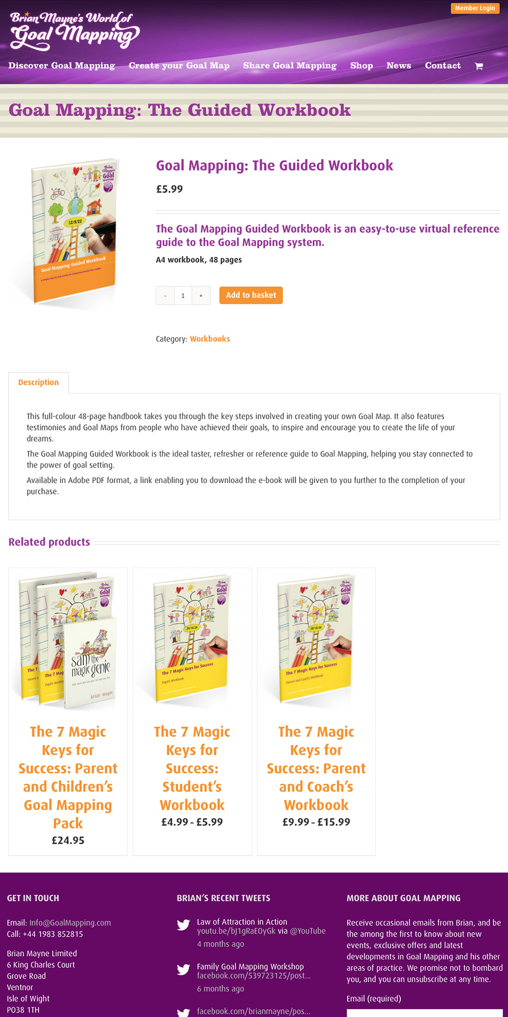 Brian Mayne's World of Goal Mapping website shop