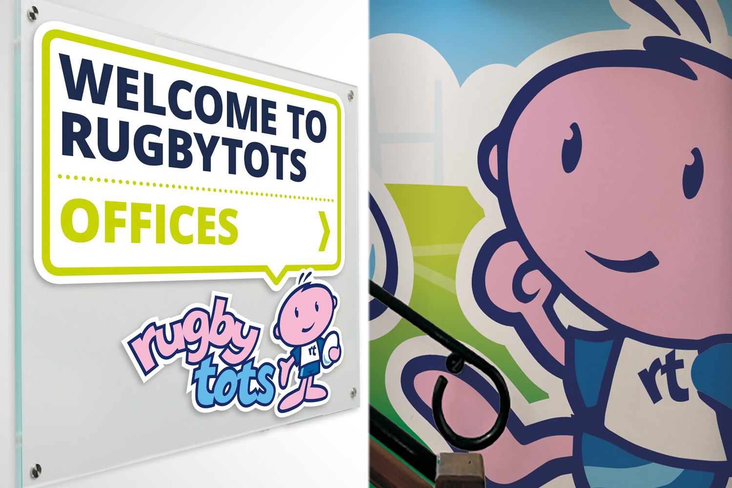 Rugbytots office graphics
