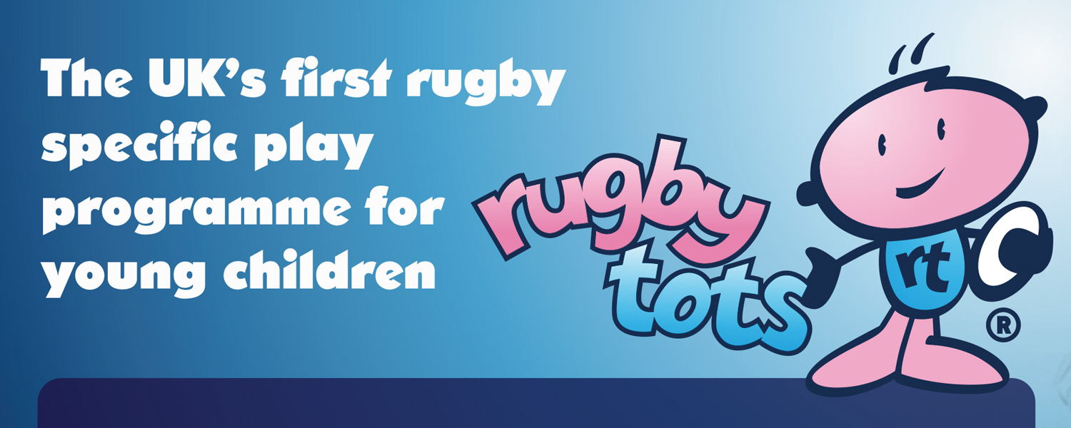 Old Rugbytots logo and positioning line
