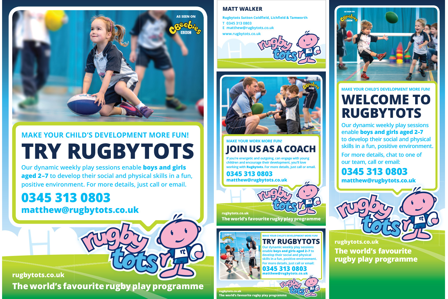 Rugbytots marketing materials in English