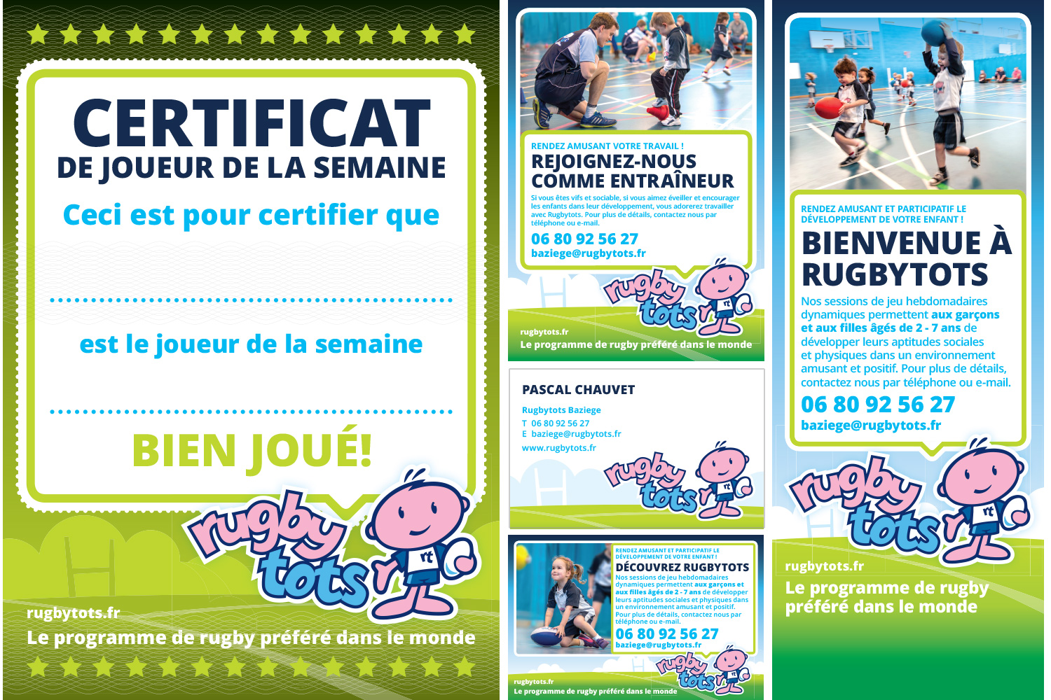 Rugbytots marketing materials in French