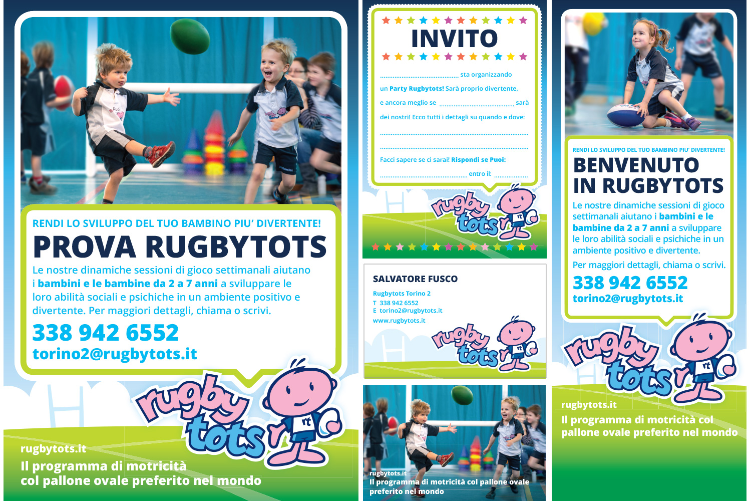 Rugbytots marketing materials in Italian