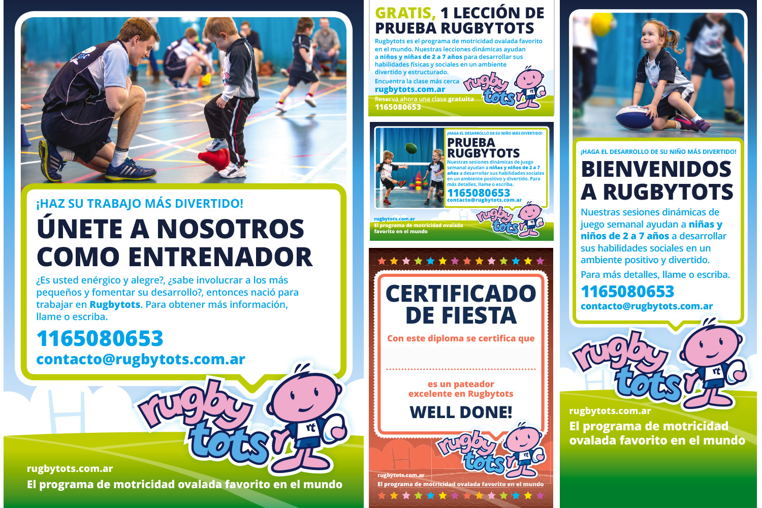 Rugbytots marketing materials in Spanish