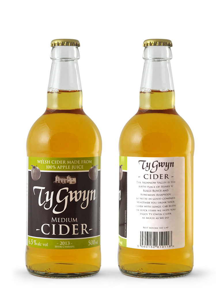 Old Ty Gwyn cider label
