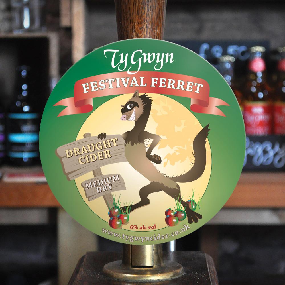 Old Festival Ferret branding