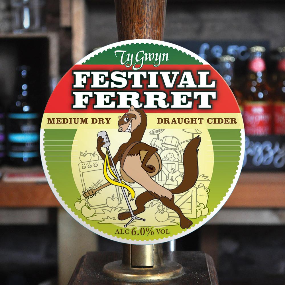 New Festival Ferret branding