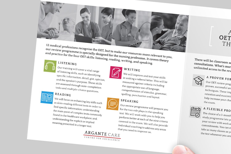 Argante Care training programme brochure