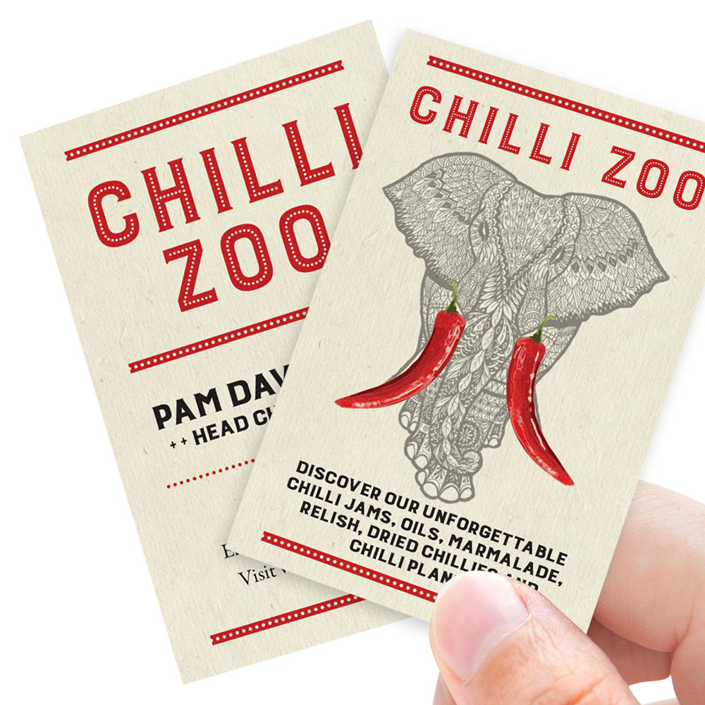 Chilli Zoo business card