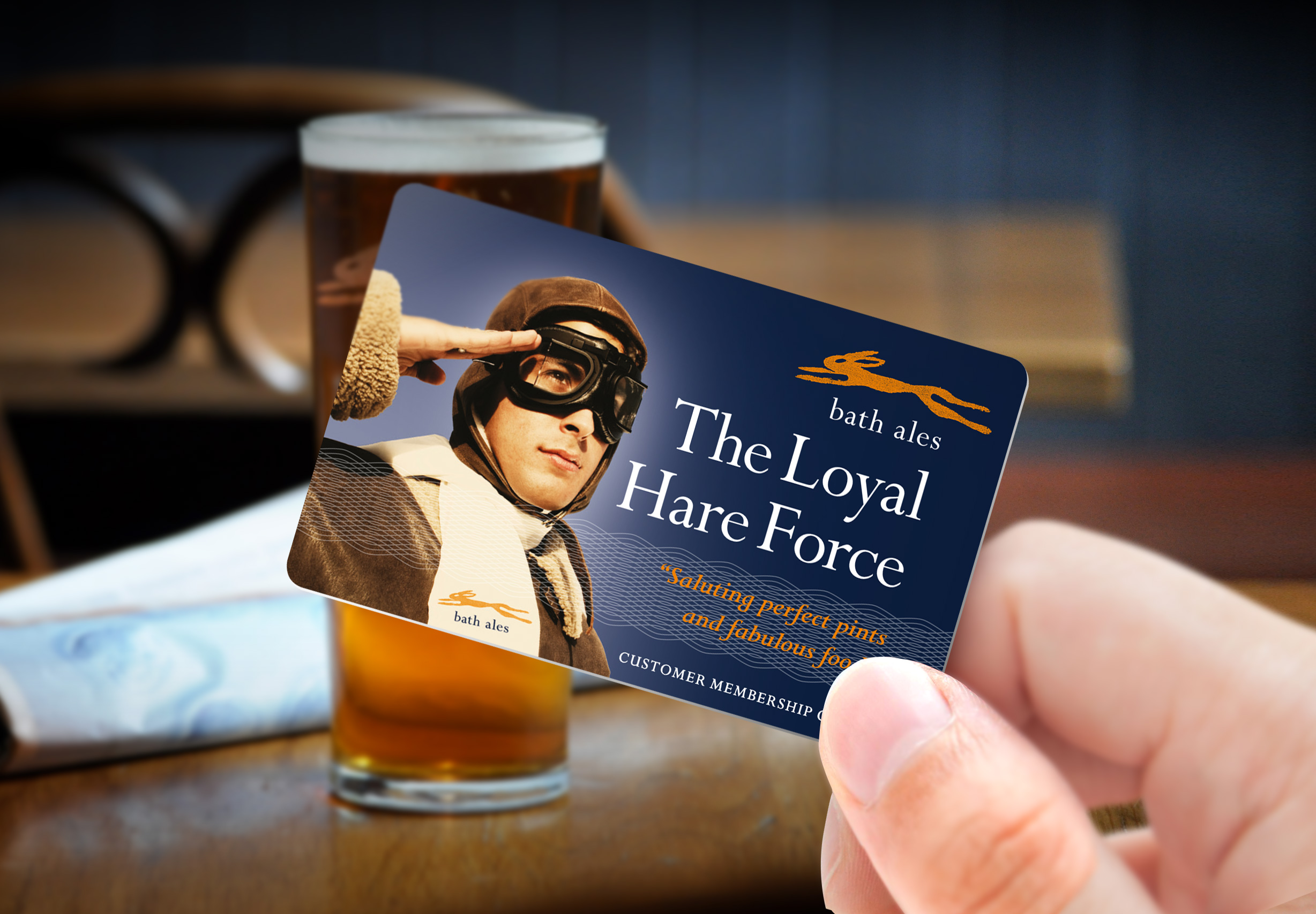 Bath Ales Loyal Hare Force branding