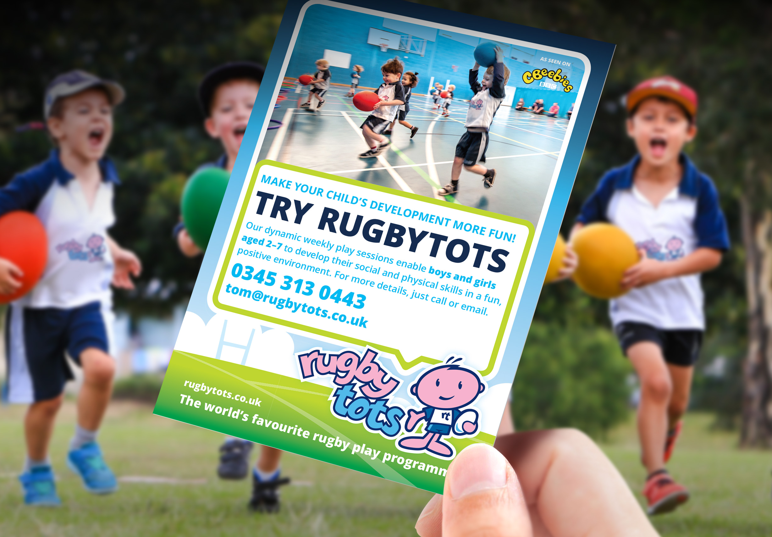 Rugbytots branding and marketing materials
