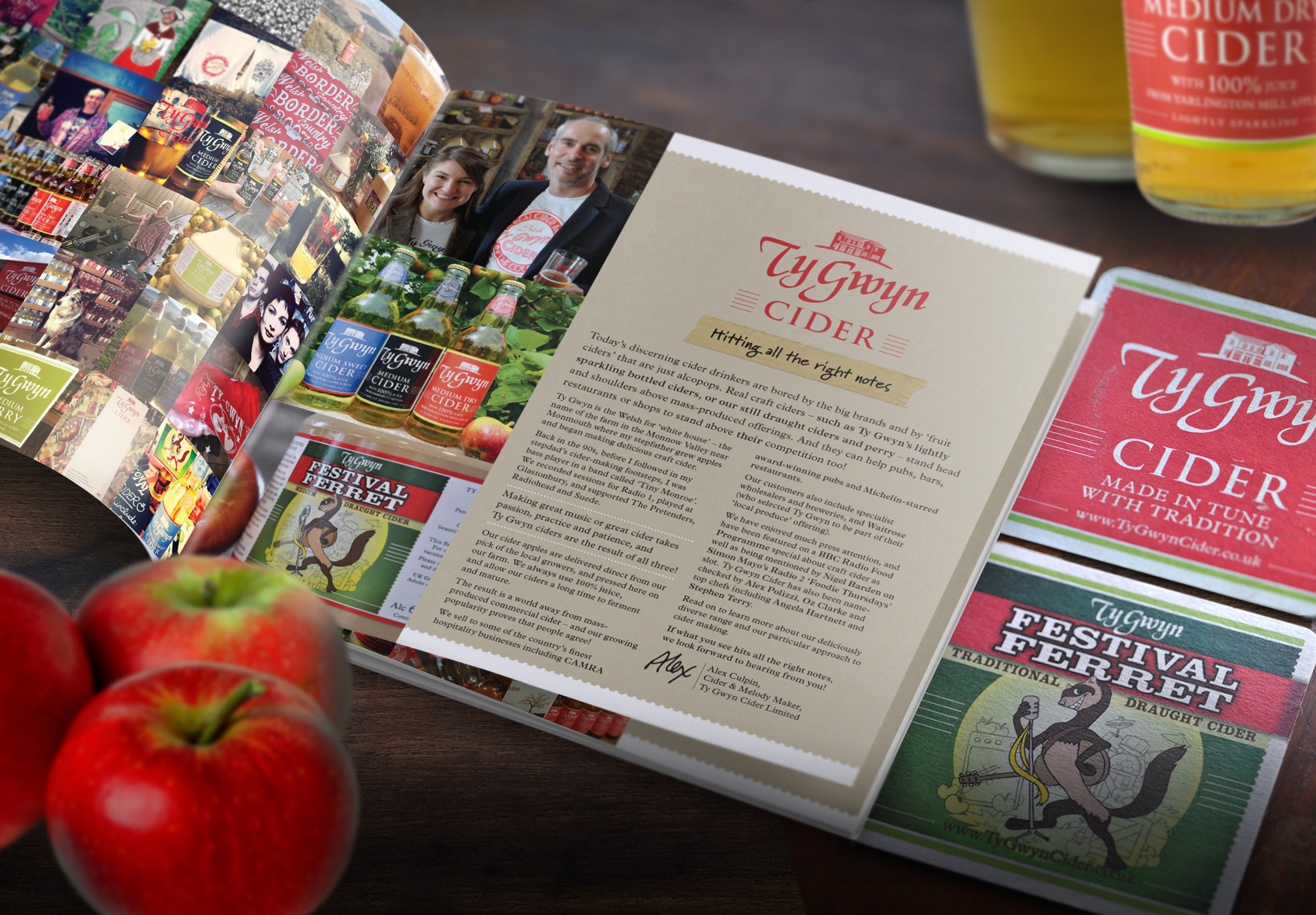 Ty Gwyn Cider branding, packaging and brochure