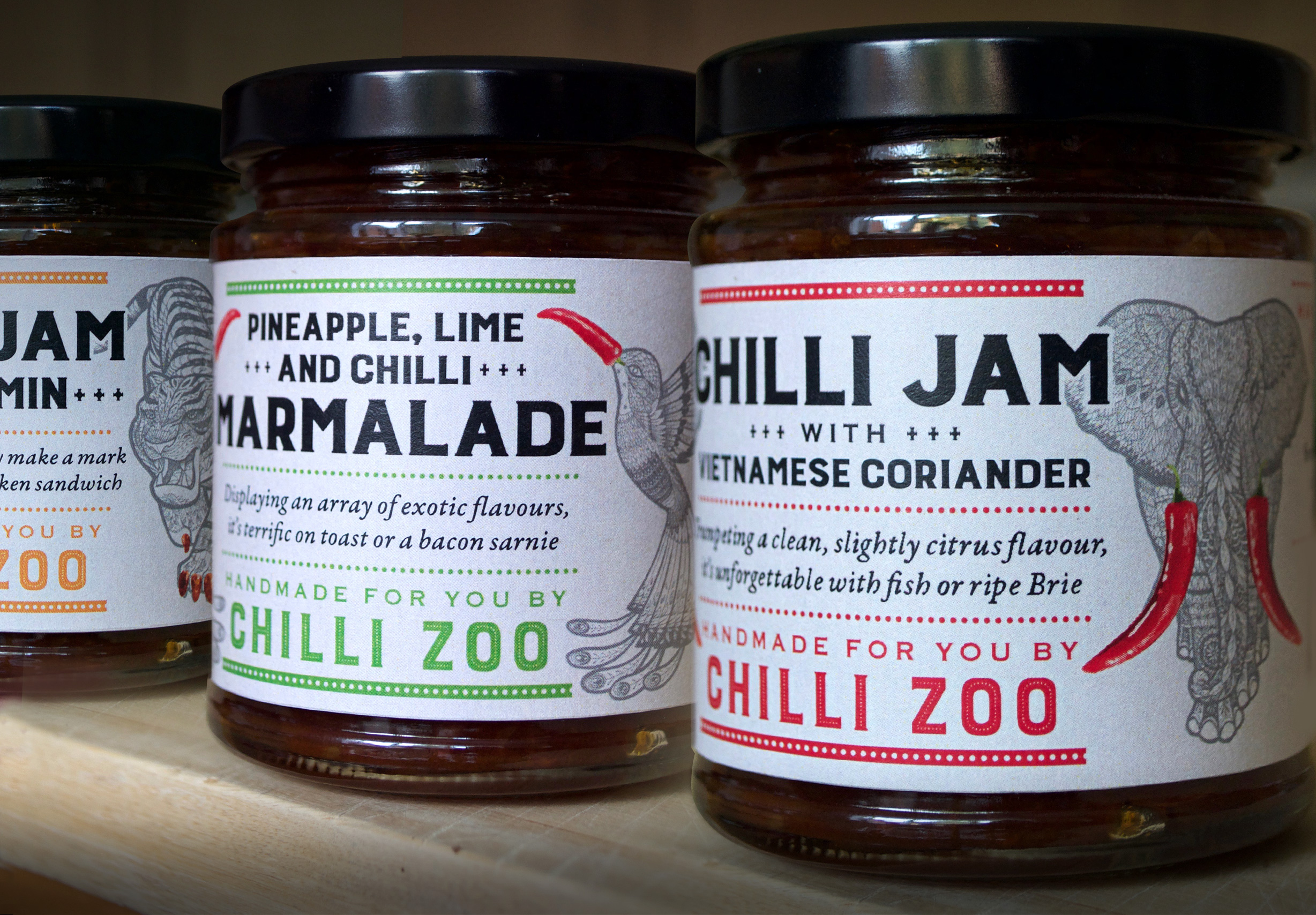 Chilli Zoo branding and labelling