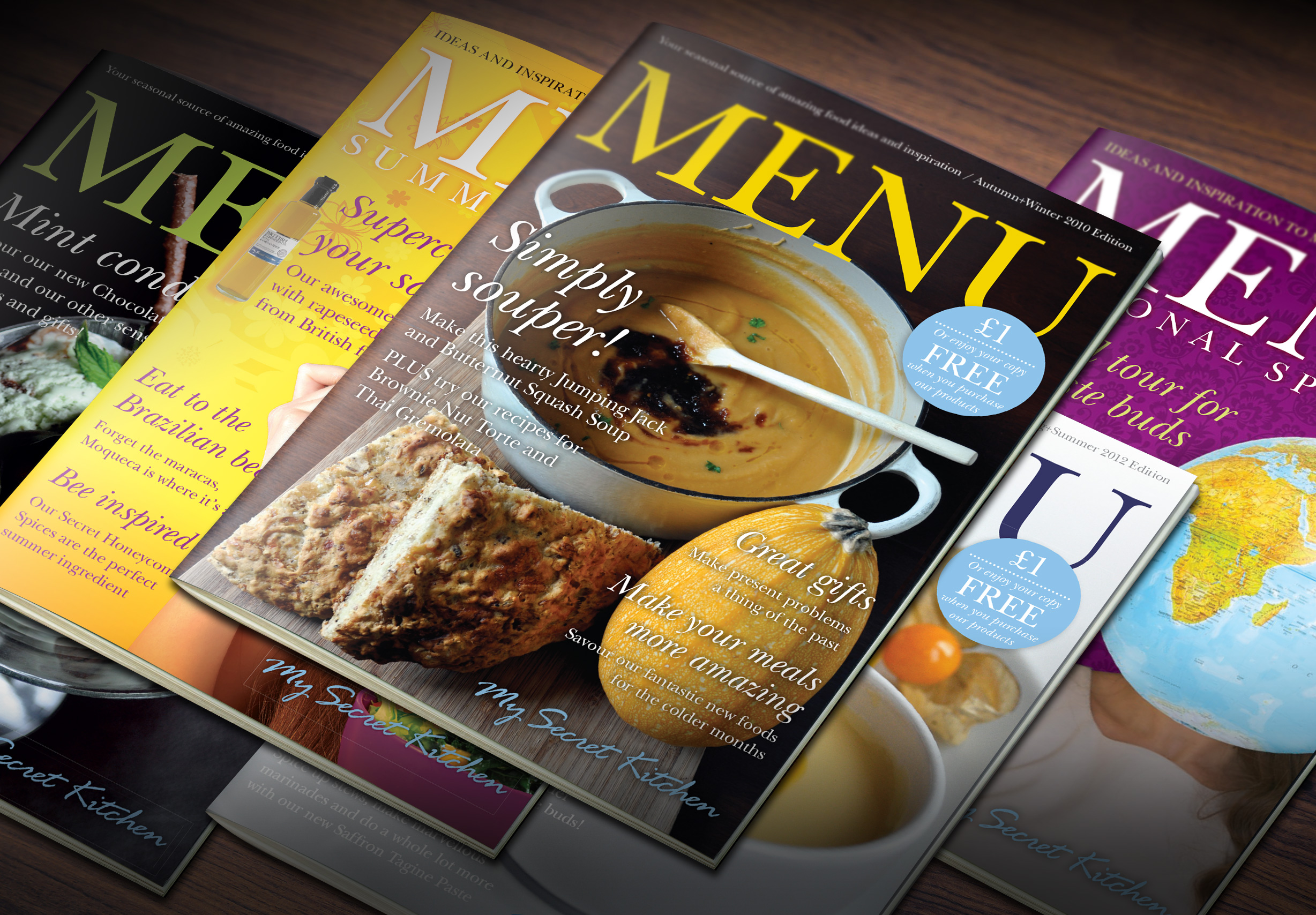 My Secret Kitchen Menu magazine