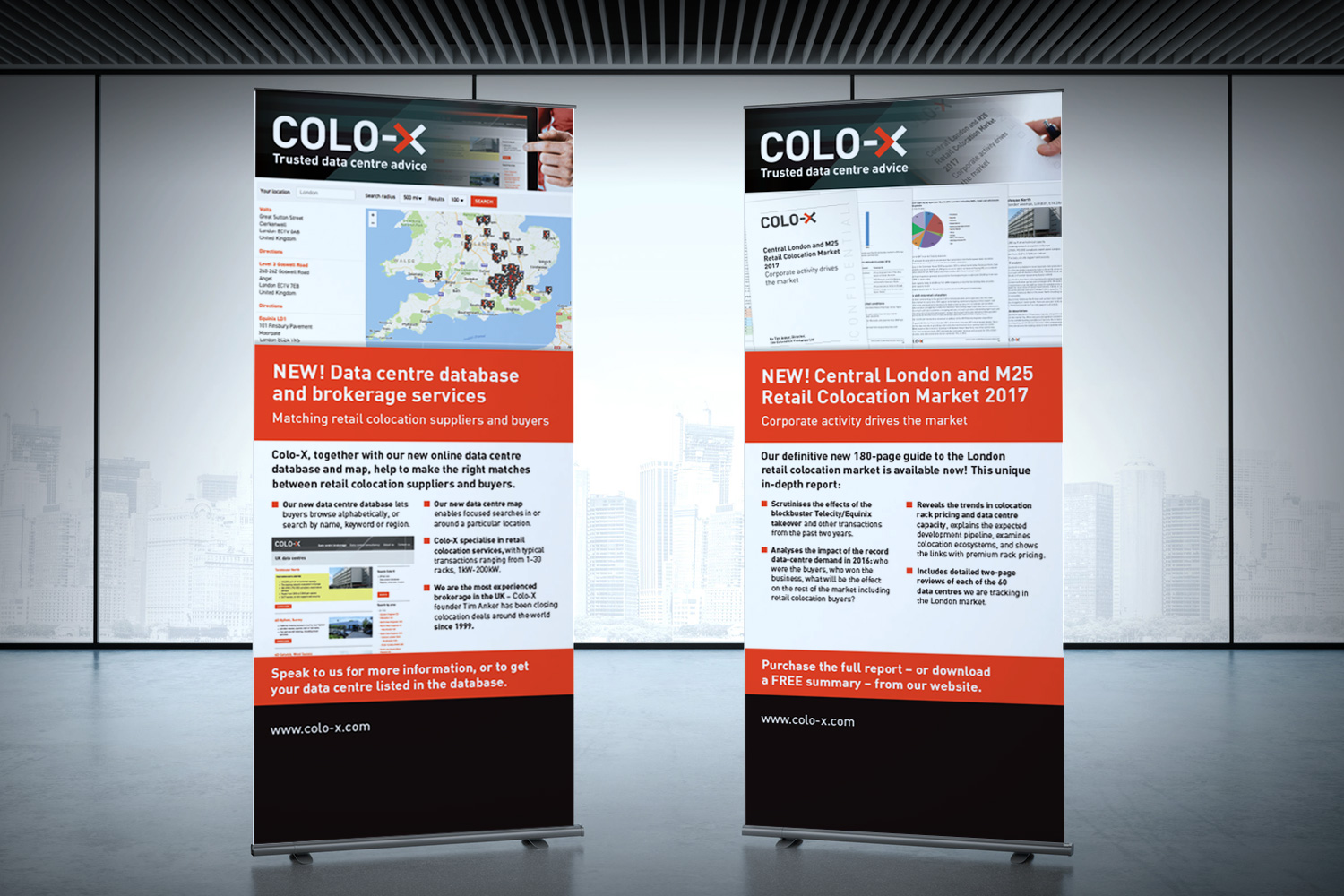 Colo-X exhibition banners