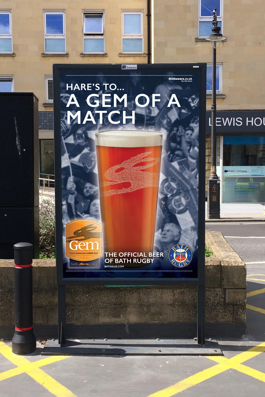 Bath Ales Bath Rugby sponsorship poster