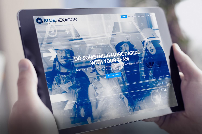 Blue Hexagaon Events website