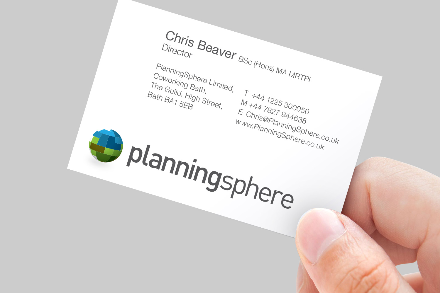 PlanningSphere business card