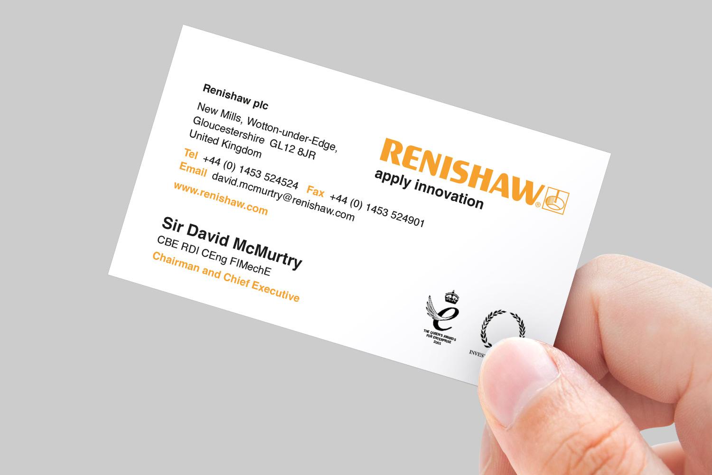 Renishaw business card