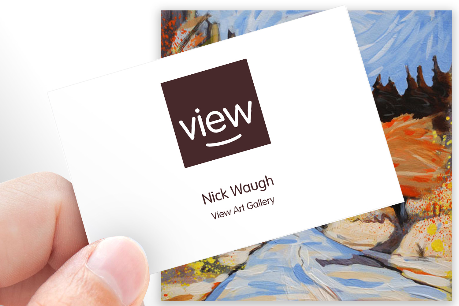 View Art Gallery business card