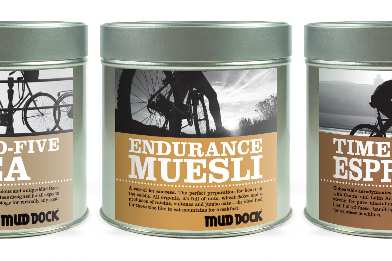 Mud Dock tea, muesli and coffee