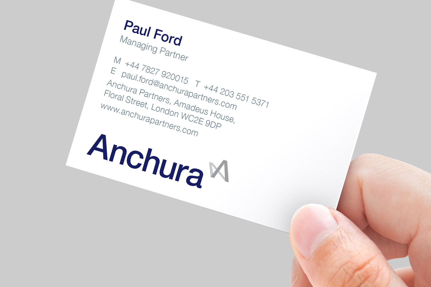 Anchura business card