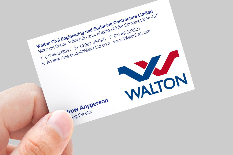 Walton business card