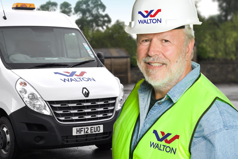 Walton clothing and vehicle branding