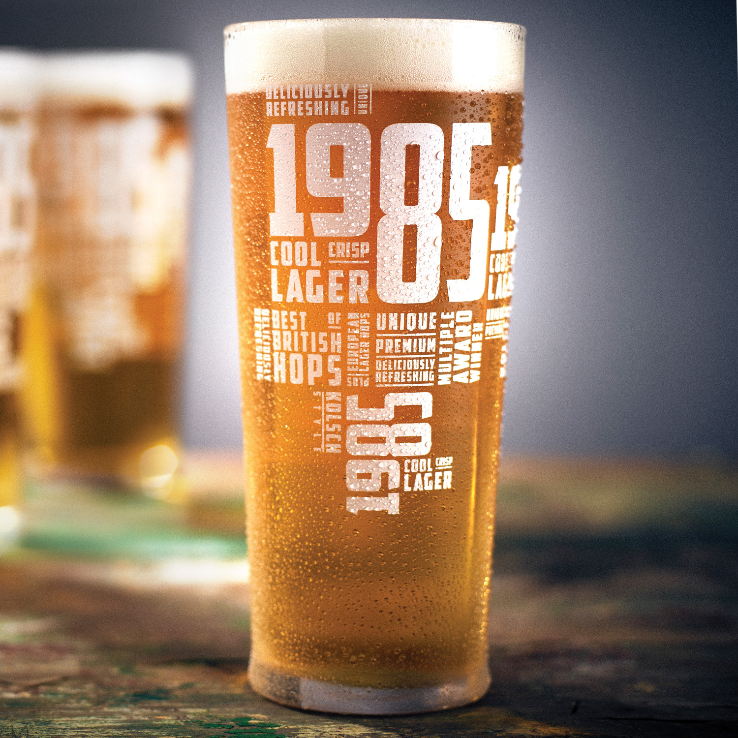 1985 pint glass