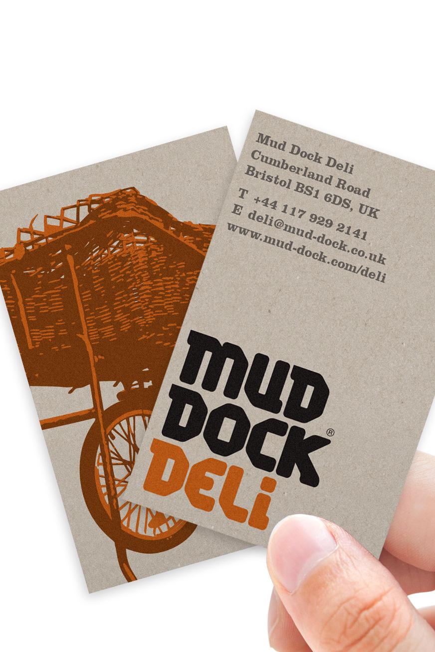 Mud Dock Deli business cards