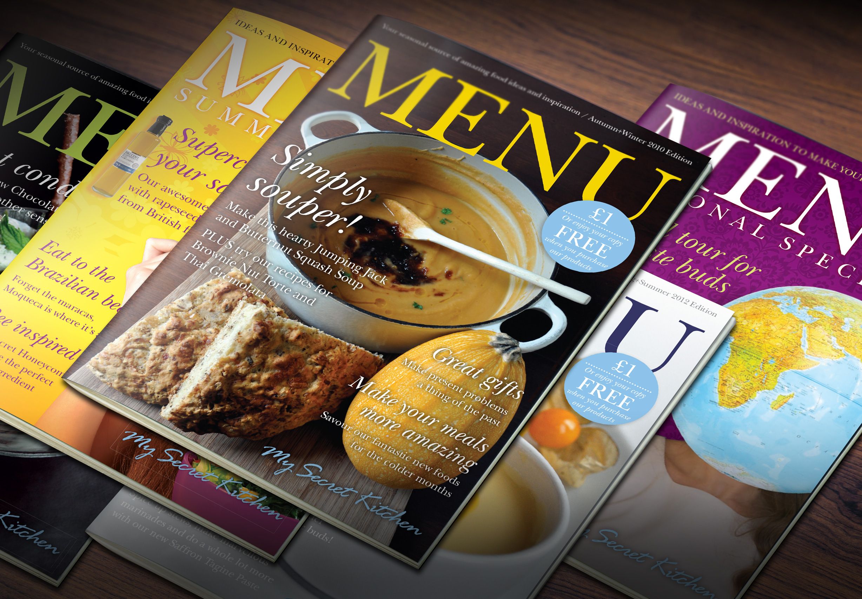 My Secret Kitchen 'Menu' magazine